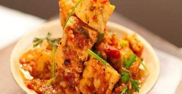 豆腐とトマトソース煮