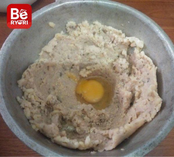 緑豆とひき肉のボール-4