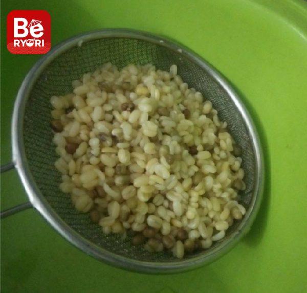 緑豆とひき肉のボール-3