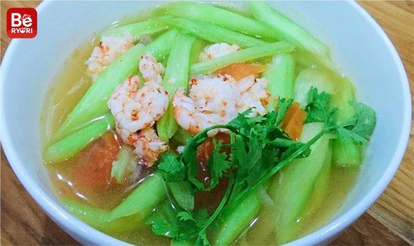 エビのハスイモの茎スープ1