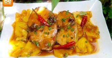 カボチャのベトナムの濃厚麺(バイン・カン・ビ・ド)-14-18