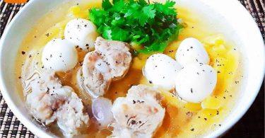 カボチャのベトナムの濃厚麺(バイン・カン・ビ・ド)