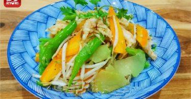 エビとミックス野菜の炒め物1