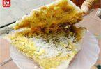 バイン・ダ・ケ(黍の焼きライスペーパー):ハノイでの人気スナック1