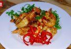エビフライと魚醤油煮-0