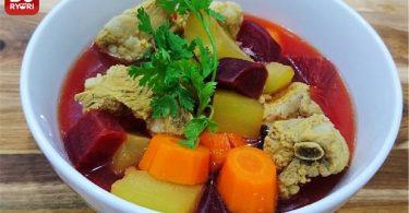 リブと塊茎煮込みスープ-0